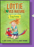 Lottie just loves all things in nature.  She decides to build a pond for the frogs in her back garden.  Could certain small invasive species become an issue?  Illustrated by James Brown.