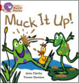 "Band 2A Reading Scheme Book - ""The duck pond is a mess.  Plip and Plop did it."""